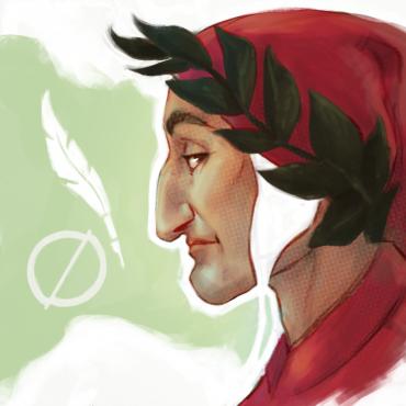 Illustrazione della figura di Dante Alighieri