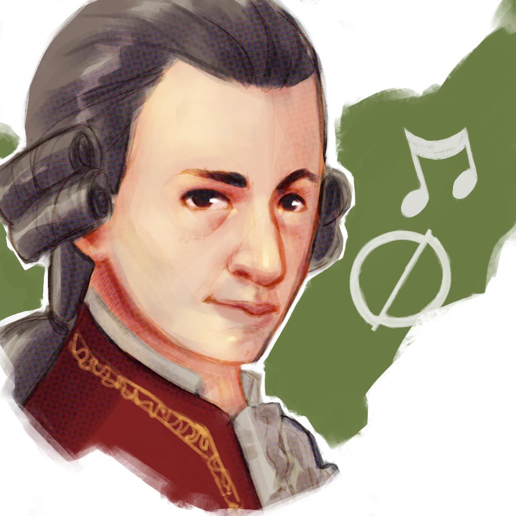 Illustrazione che ritrae il giovane prodigio Mozart