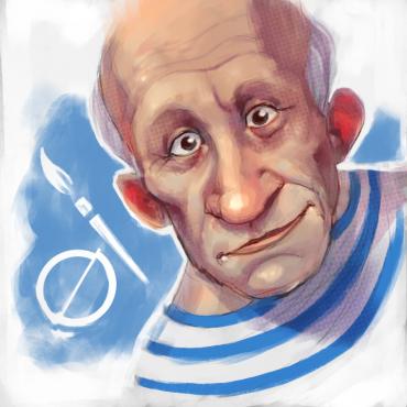 illustrazione per biografia Picasso Artgender magazine