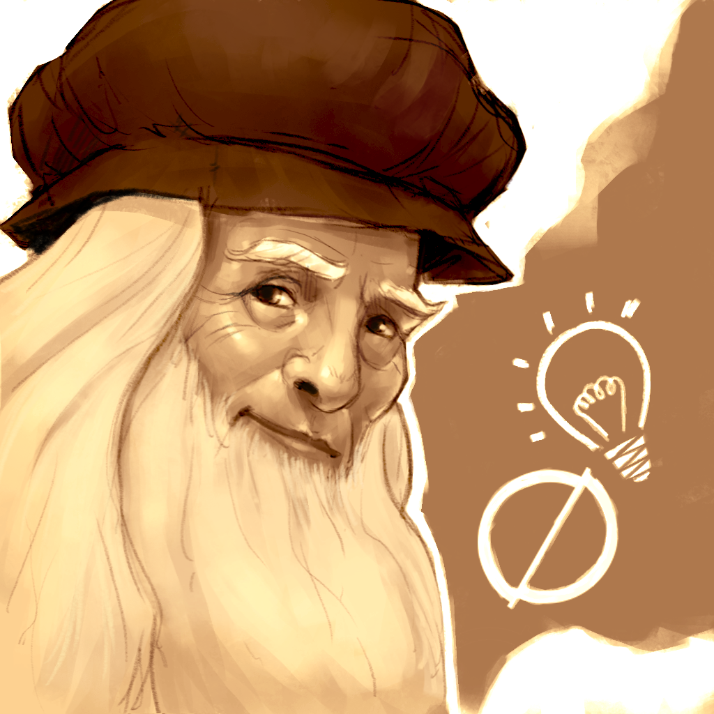Illustrazione che ritrae il genio Leonardo