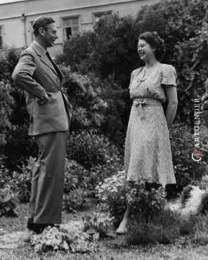 Queen Elizabeth and her father