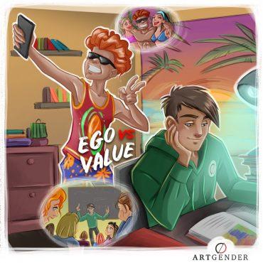 Illustrazione sui valori contemporanei