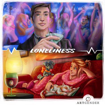 Illustrazione della solitudine