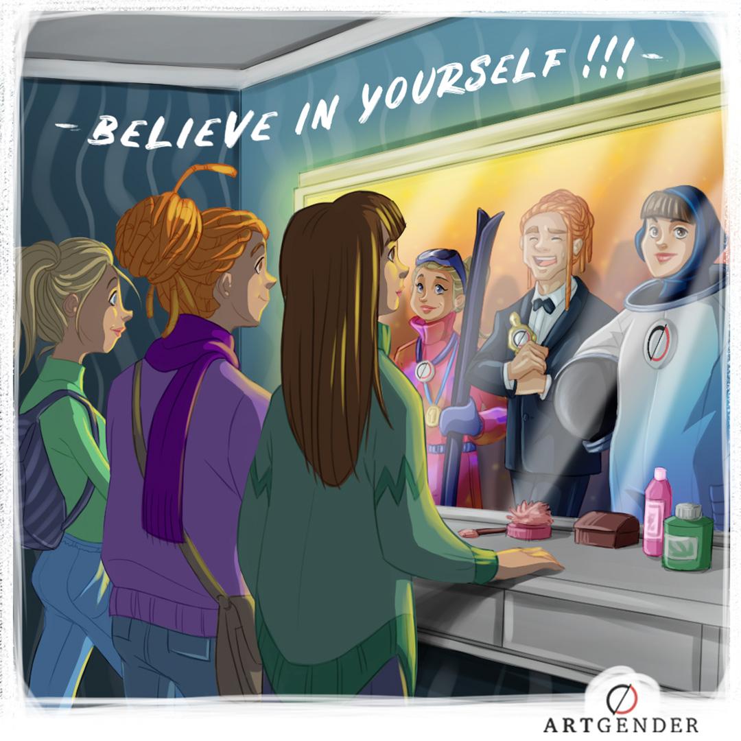 Illustrazione sul credere in sè stessi