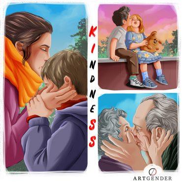 Illustrazione del bacio