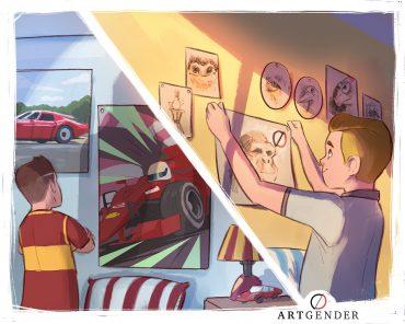 Illustrazione sulla cura di artgender