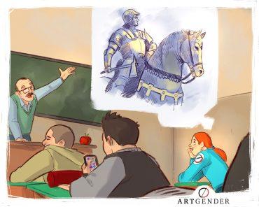 Illustrazione sullo studiare
