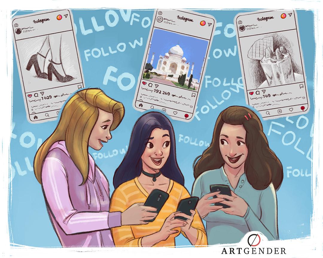 Illustrazione sui like