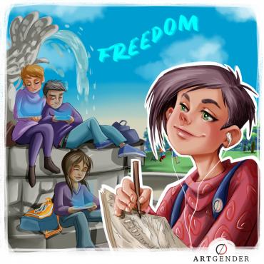 Illustrazione sulla libertà