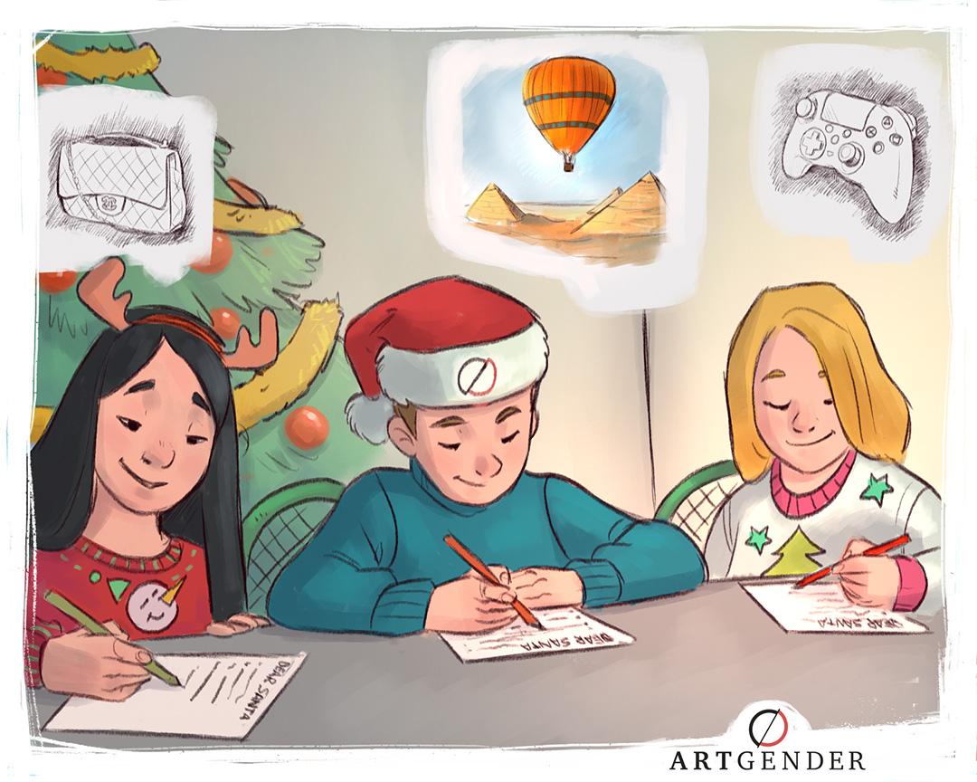 Illustrazione sul regalare