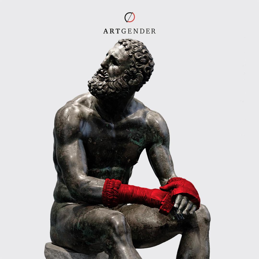 boxer at rest sculpture
